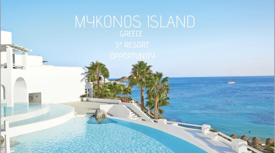 5* Mykonos Island Development Opportunity