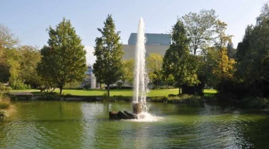 Luxurious hotel complex surrounded by beautiful landscape in Baden-Baden