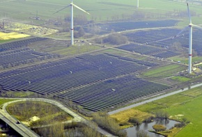 Solar Park in Büttel, Schleswig-Holstein