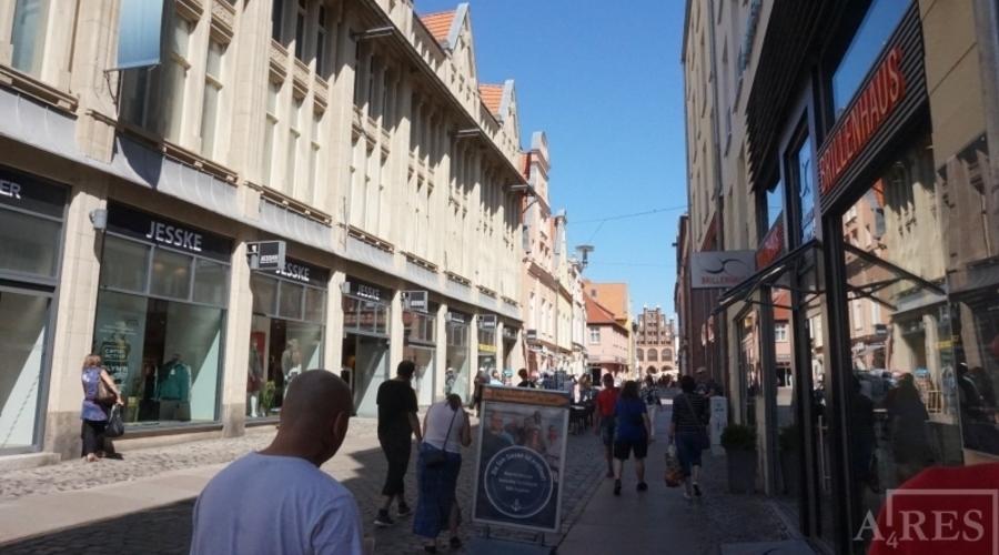 Wertheim department store in the center of Stralsund