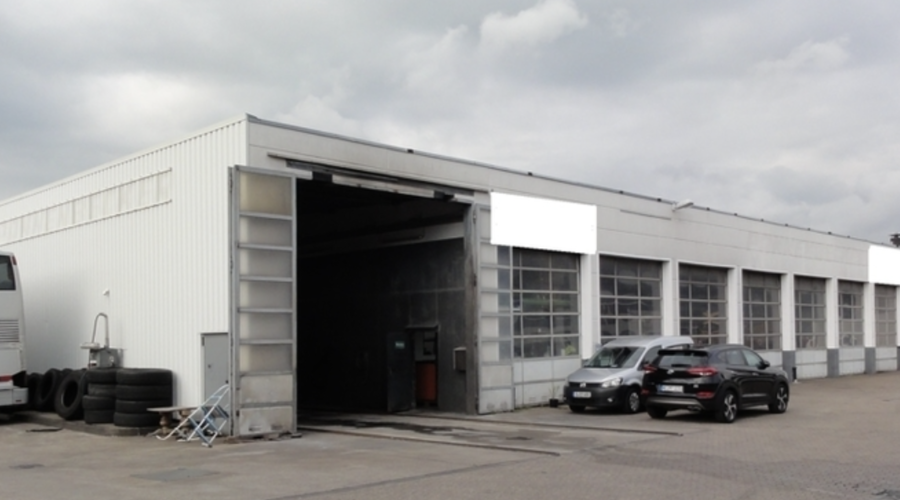 Modern commercial property in a busy advertising location