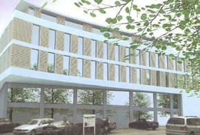 Commercial building plot