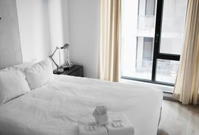 Hotel renovation with secured tenant