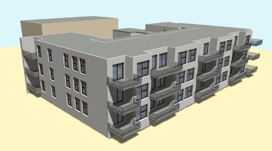Building plot with legally binding development plan