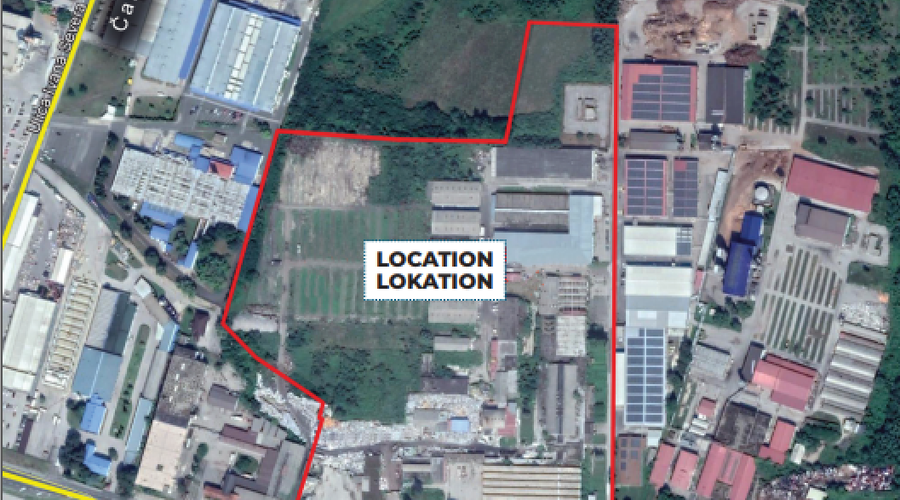 Plot for production plants, warehouses, free-trade zone or shopping centre