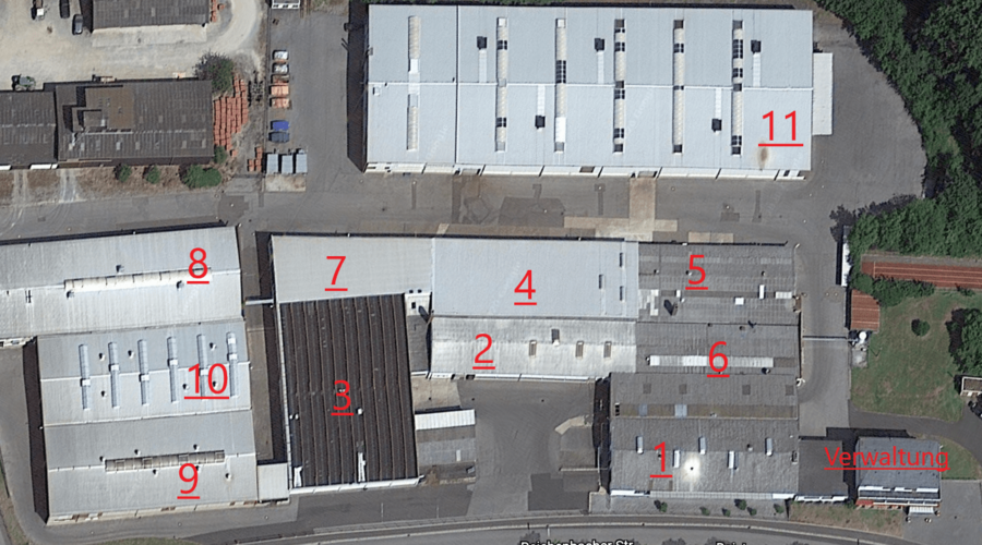 Warehouses and production facility with office complex for sale