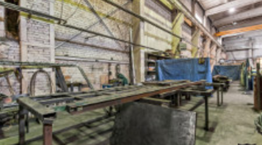 Production room with metalworking equipment