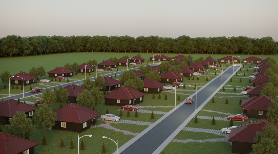 A portfolio of land plots for residential and commercial development
