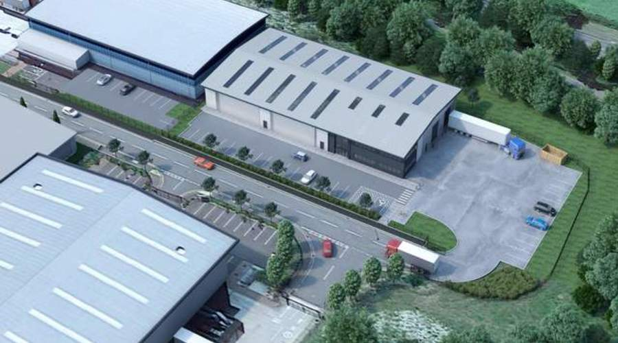 New build warehouse in Chesterfield, England