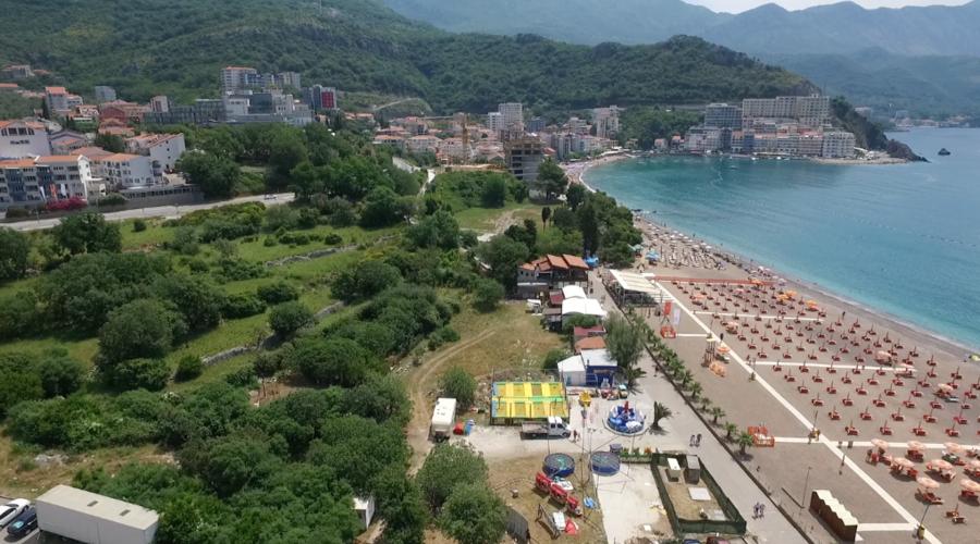 Large development plot on the seashore