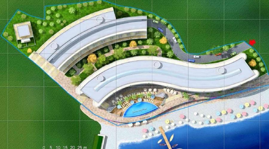 Beachfront hotel plot in Buljarica, Budva Riviera, Montenegro