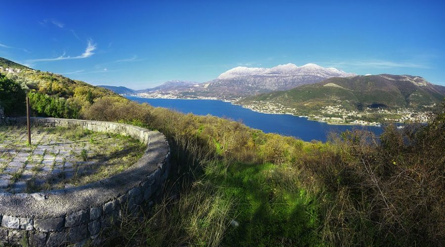 Montenegro - Lustica peninsula land with ruins