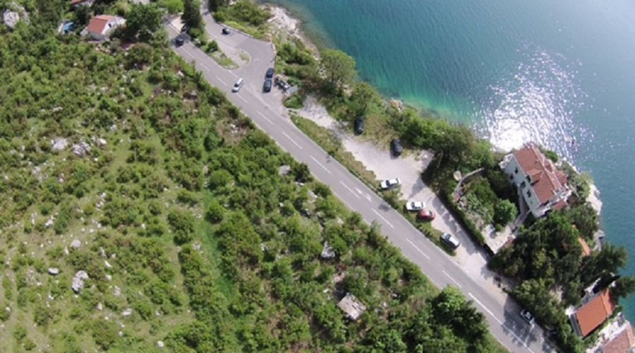 Montenegro, Kotor - Construction Land on the firs sea line