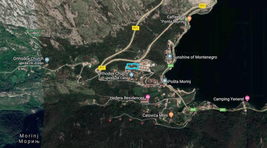 Montenegro, Kotor bay - Development plot in Morinj near residential complex